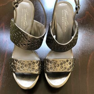 🌼New🌼KENNETH COLE Grey Metallic Leather